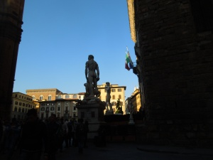 We stumbled upon this square by accident, and -- Whoa! Irene met a cute carabinieri!