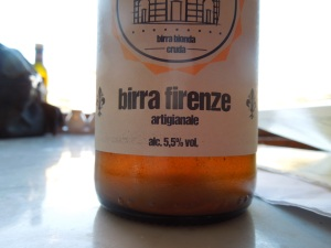 Found a tiny restaurant overlooking the Arno River and tried some Florentine beer: very mellow!