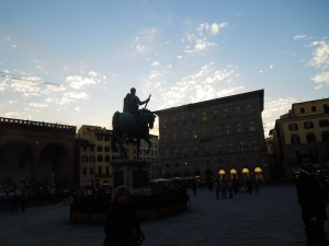 The Monument to Cosimo de Medici in the Piazza della Signoria