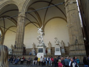 The Loggia of the Uffizi Gallery in Florence: a great spot to people-watch!