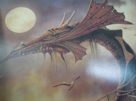 "Detail of David Delamare Print, ""On the Dragon's Back"""