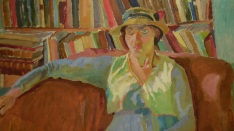 Vanessa Bell, by Duncan Grant, in the British National Gallery
