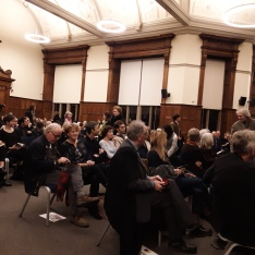 Waiting for the Alice Oswald lecture to begin, 13 November 2019